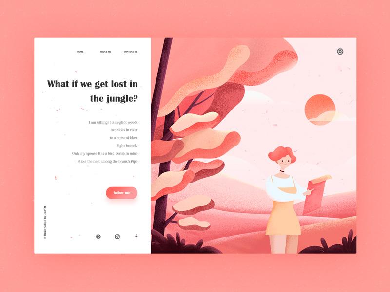 Lost In The Jungle uiux design travel illustration