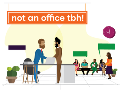 How is this not an office? ux flat illustrator illustrator vector illustration flat illustration
