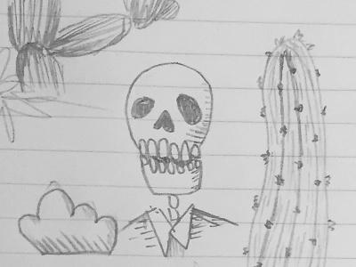 Skeleton & Cacti cacti cactus mexican skeleton skull