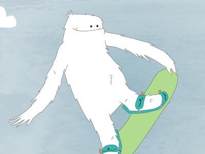 Snowboarding Zemu sasquash yeti snow snoboarding