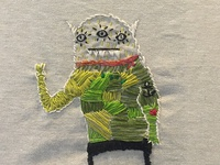Embroidered Triclops Monster