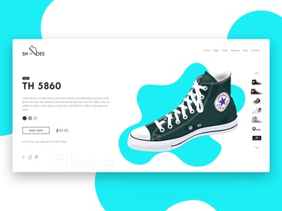 Shoes Web Layout