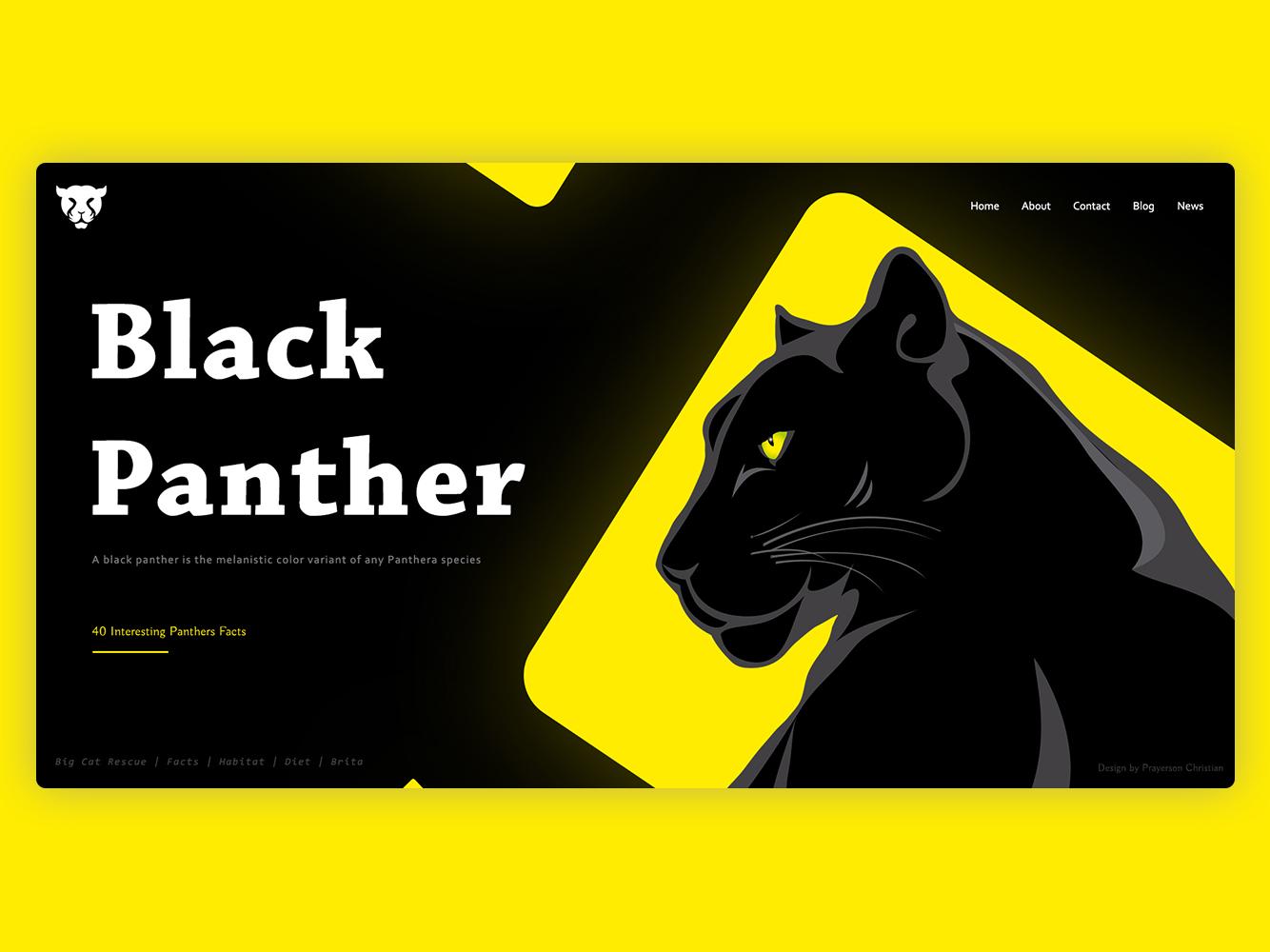 Black Panther designer website website design mockup psd layoutdesign photoshop webdesign