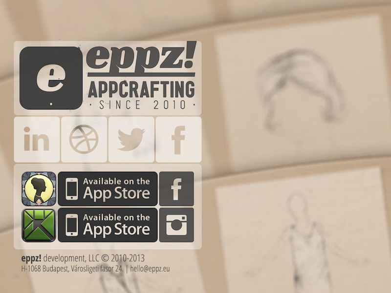 eppz! site eppz chic tangram ipad ipad mini render 3d app hand drawn hand-drawn cards fan site web social linkedin facebook twitter instagram