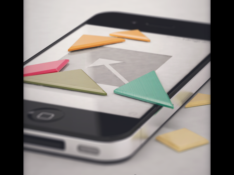 tangram! splash screen eppz splash ui iphone ios tangram 3d vray render reflect reflection puzzle