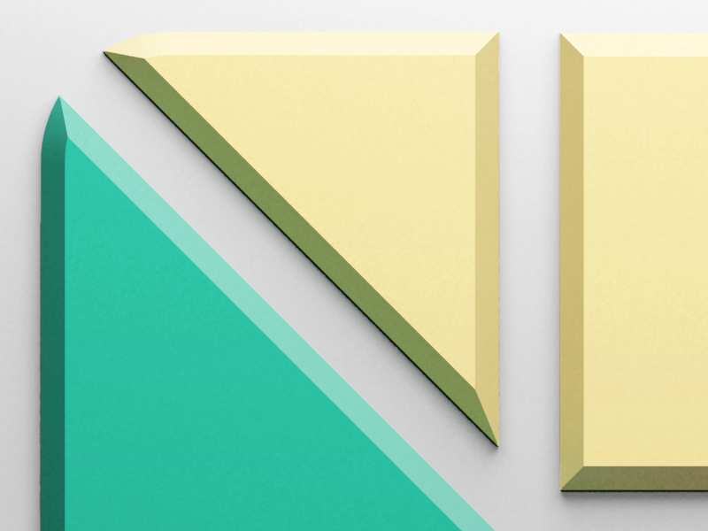 tangram! icon closeup tangram eppz puzzle ios iphone icon render 3d vray flat shadow