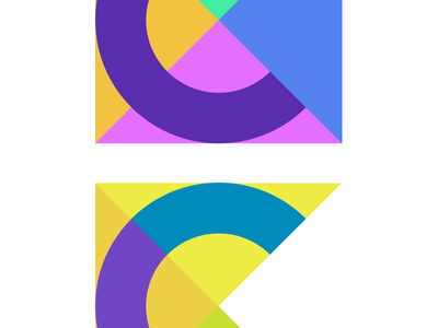 Experimenting with color combinations sign logo c colors