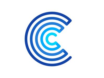 Exploring shape ideas for a logo conveyor path maze c sign logo logotype