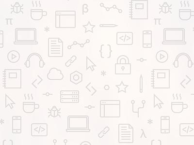 Coding pattern icons pattern coding development programming