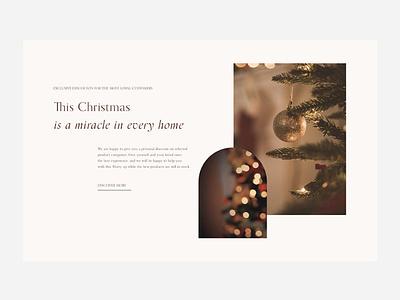 Christmas home holiday christmas website web ux ui minimal design