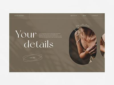 Your detals uiuxdesigner uiuxdesign uiux minimalism design website ux