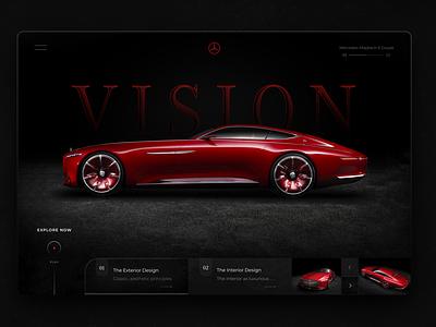 Mercedes-Maybach 6 Coupe web ui design