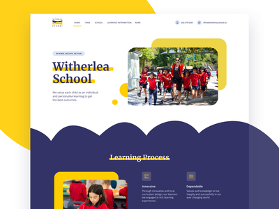Witherlea School education school logo webdesign vector ux ui typography like good design figma design
