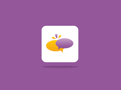 Talk Logotype blablabla bla icon ios purple yellow talk