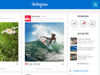 Instagram Website  instagram website redesign