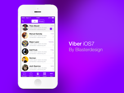 Viber for iOS7 viber ios7 iphone apple iphone5 text app tchat