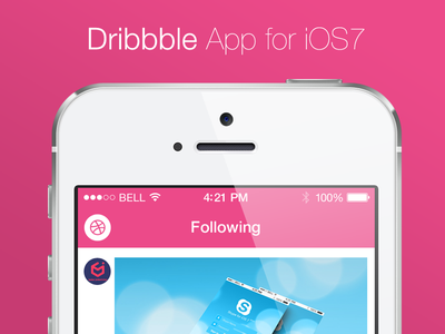 Dribbble App dribbble app application ios ios7 ui ux