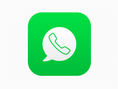 Whatsapp Icon  ios7 whatsapp messenger green whats iphone apple