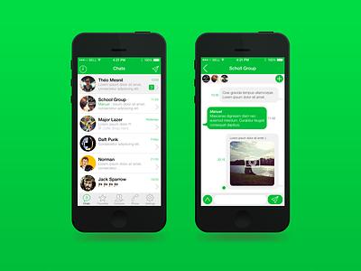 Whatsapp ios7 whatsapp messenger green app whats iphone apple chats tchat text phone