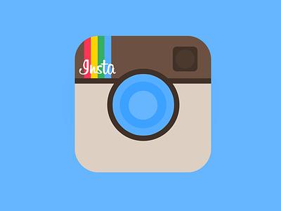Instagram Logo - Redesign V2 intagram redesign logo flat