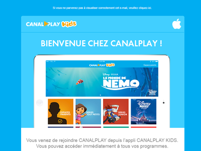 Welcome Email - Canalplay Kids canalplay netflix email welcome kids