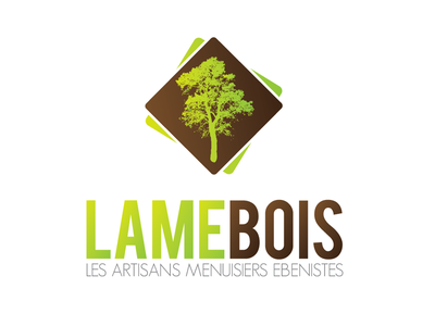 Logo for a carpentry business wood logo logotype carpentry guadeloupe