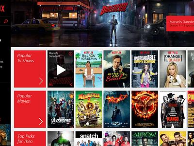 Netflix - Website Redesign redesign webdesign ui video red website netflix