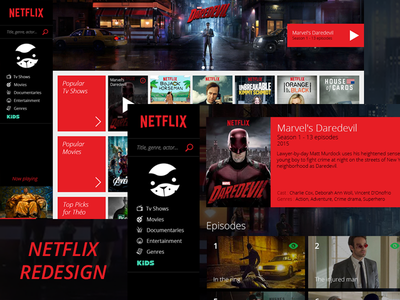 Netflix - Website Redesign redesign webdesign ui video red website netflix