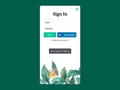 Sign In ux ui app design redesign linkedin button form signin jungle
