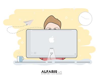 Practicing Time geek illustration illustrate developing coding develop code design imac mac