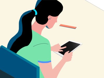 Teacher design vector illustrate illustration