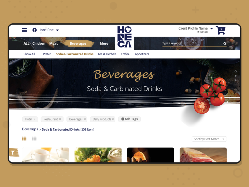 Internal Sales Portal - Food Supplier portal products ecommerce sales supplies food and drink food ui ux ahmed faris design