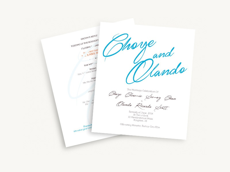 choye olando wedding programme by kevin williams dribbble dribbble