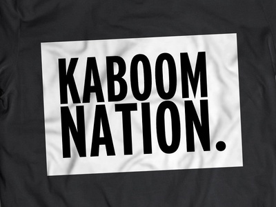 Kaboom Nation t-shirt clothing logo branding design tee