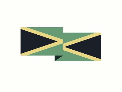 FLAG CITY caribbean icon national flag jamaica illustration