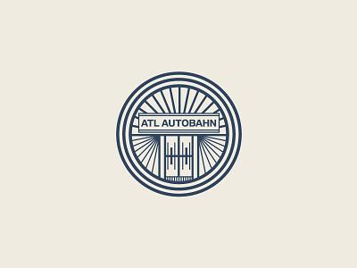 ATL AUTOBAHN Monogram crest automobile automotive logo design brand logo logotype identity monogram
