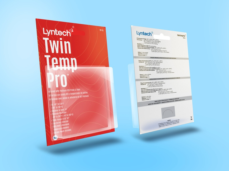 Lyntech Twin Temp Pro Packaging advertising packaging packaging design brand logotype brandmark identity