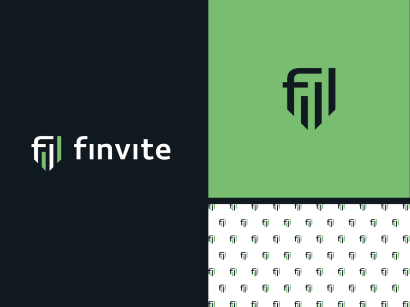 finvite logo invite schedule shield finvite finance pattern branding design logo design ideas logodesign logotype logo