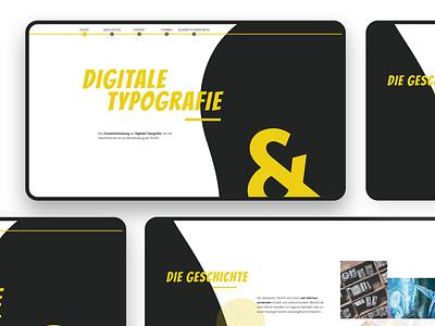 Digitale Typografie Webdesign website ux ui webdesign