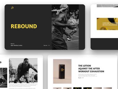Rebound UI/UX website webdesign user interface