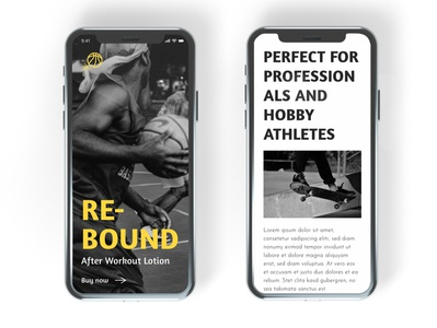 Rebound Mobile UI/UX mobile design user experience user interface