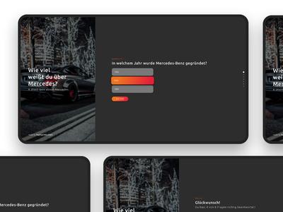 Mercedes Benz Quiz UI Design ux webdesign uiux user interface design
