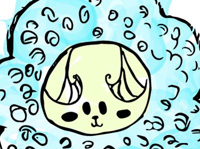 Bovine cute animal character art vector illustration