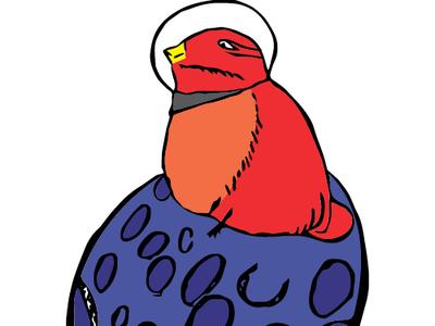 Space Bird vector illustration