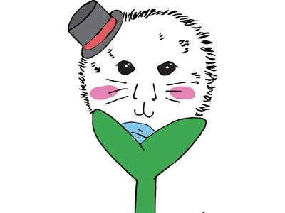 Dandy Lion character art illustration