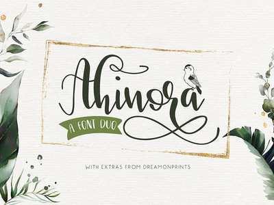 Ahinora - a delightful font pair with extras