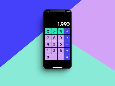 Daily UI 004 - Calculator calculator dailyui004 dailyui