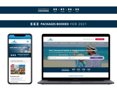 Countdown to Cruising / Package Counter Banners mobile desktop cruising travel counter banner ui