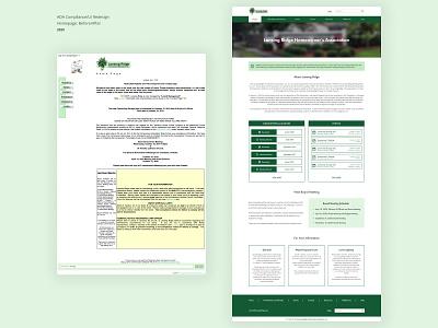 HOA Home Page - ADA Compliance/UI Redesign (before and after) desktop redesign ui ux ada compliance homepage