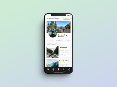 Daily UI 006 - User Profile   ROAM: Your Personal Hiking Guide user profile hiking app app designer mobile ui daily ui 006 dailyui